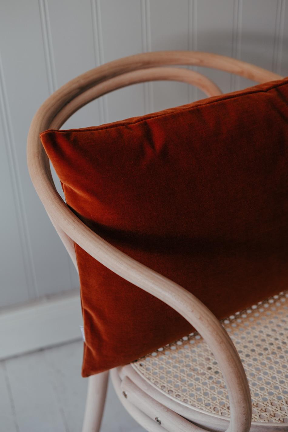 Velour Cushion Amber