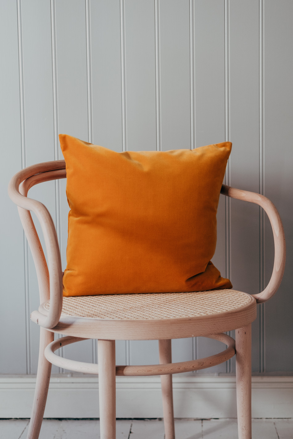 Velour Cushion Ochre