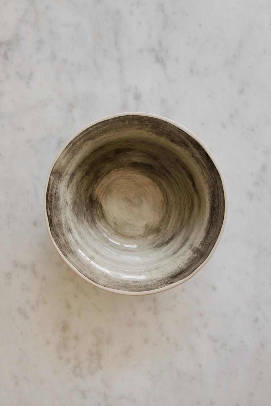 Pudding Bowl Wonki Ware Mörk