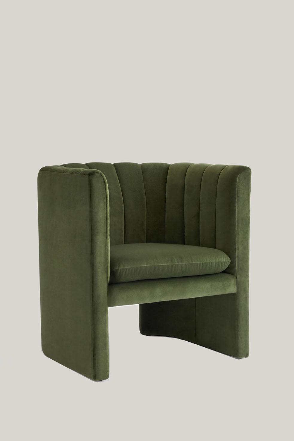 Loafer Chair SC23 Green Velvet