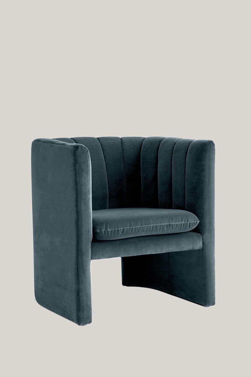 Loafer Chair SC23 Blue Velvet