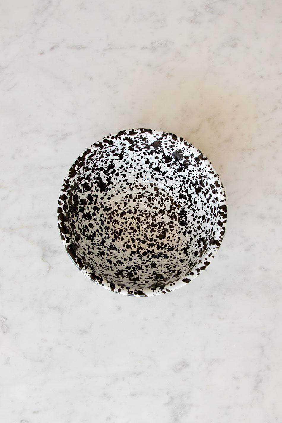 Serveringsskål Splatter Black