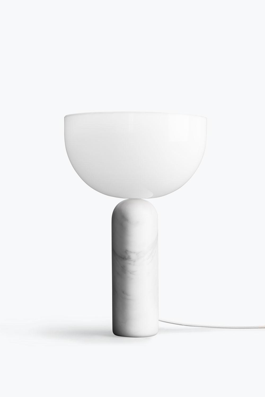 Kizu Table Lamp White Marble Large