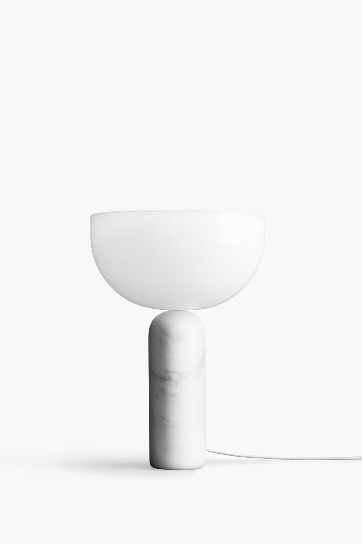Kizu Table Lamp White Marble Small