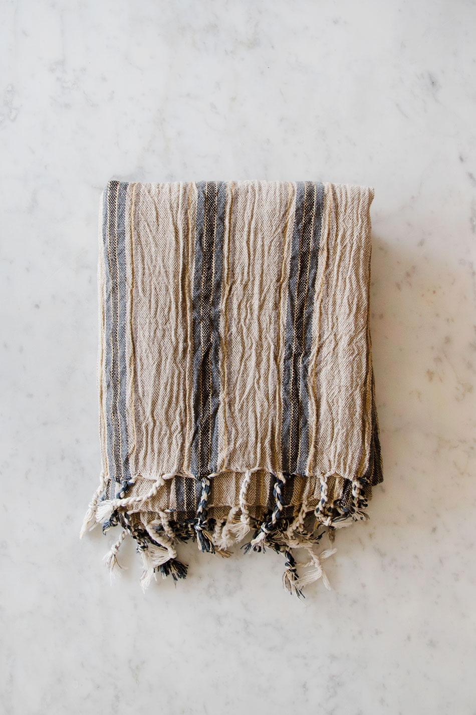 Linen Hamam Towel Blue