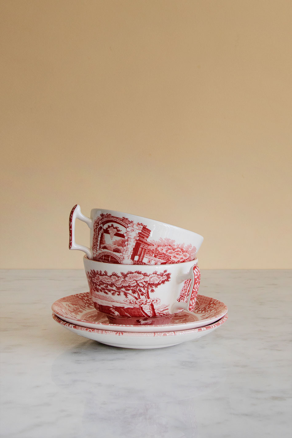 Cranberry Italian Cup & Saucer