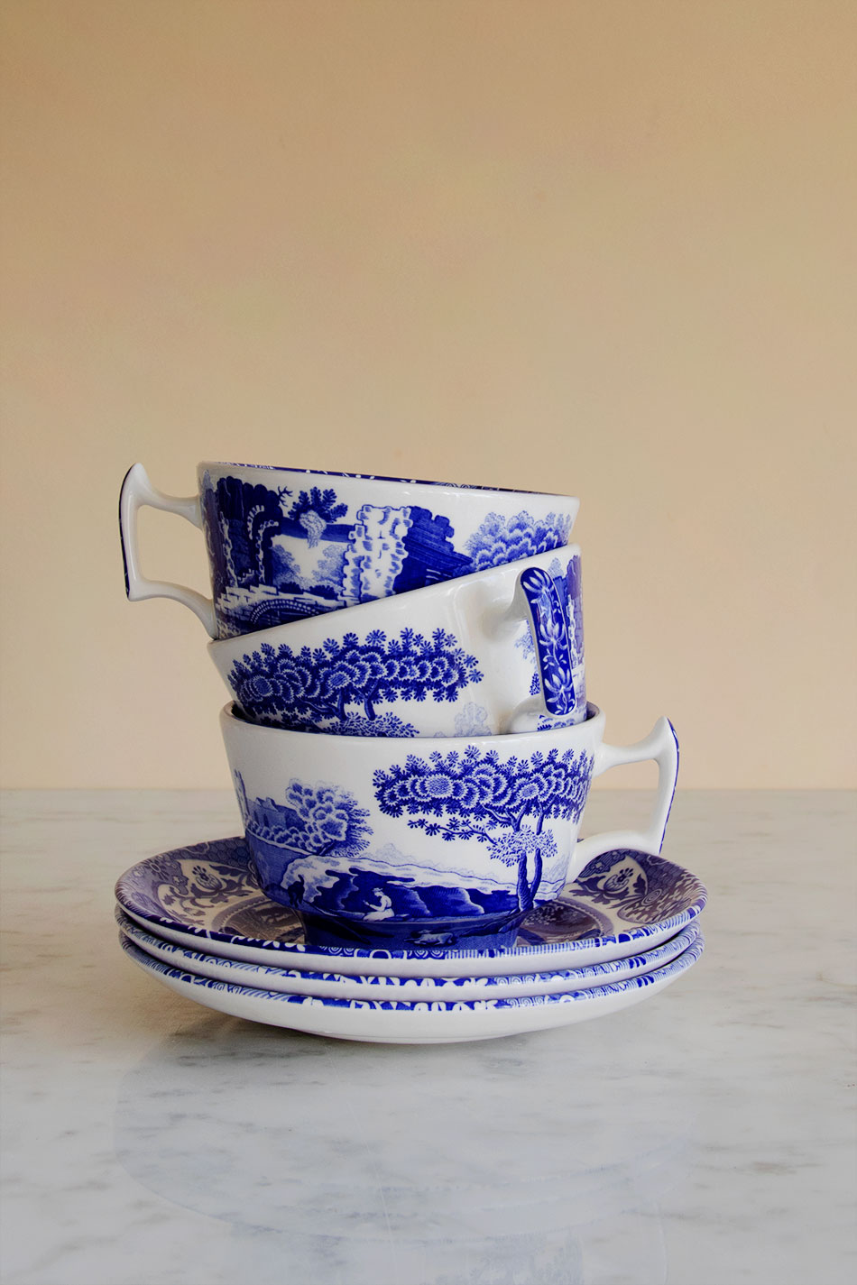 Blue Italian Breakfast Cup & Saucer