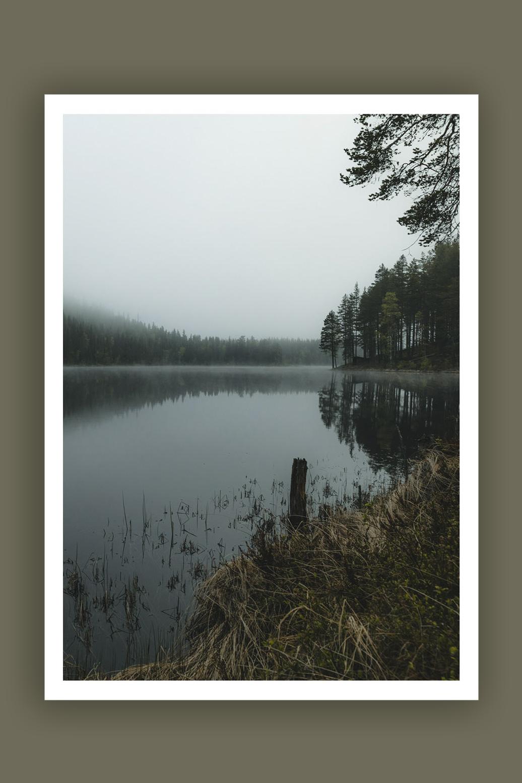 Misty Lake 70x100cm