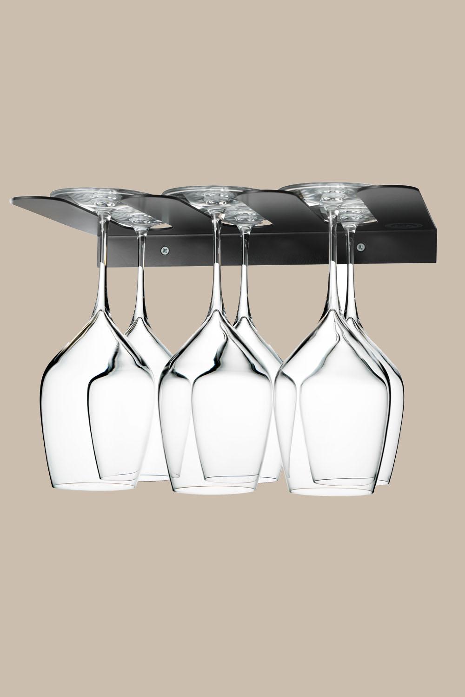Glashållare Svart