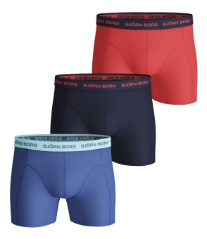 Solid Sammy Boxer Ultramarine 3-Pack