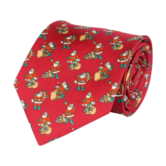 Classic Tie Christmas Wine Red