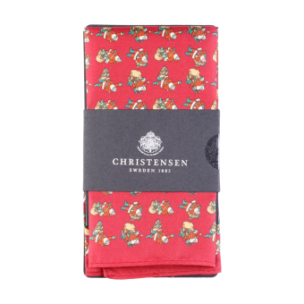 Pocket Square Christmas Wine Red