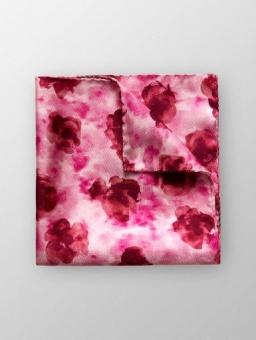Pocket Square Rosa/Röd Blomma