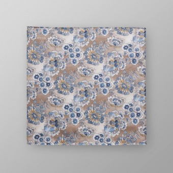 Pocket Square Blå Blommig