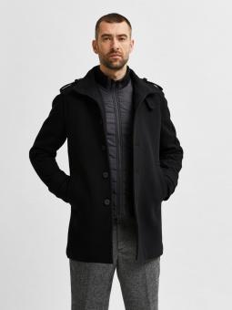 Noah Coat Black Twill