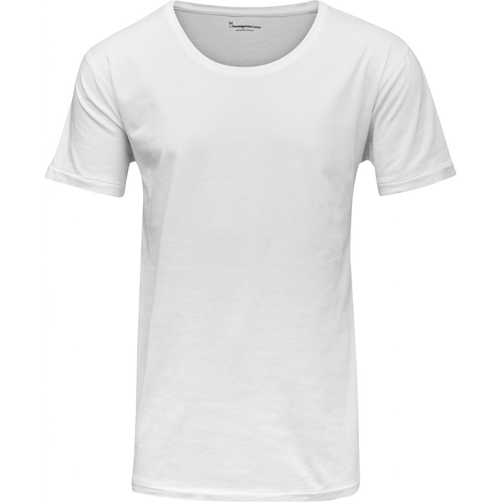 Basic Regular Fit O-Neck Tee - Bright White