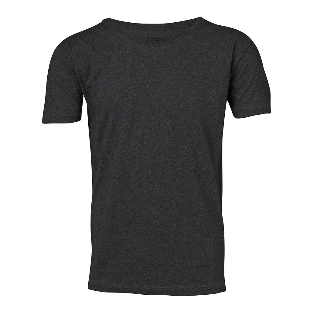 Basic Regular Fit O-Neck Tee - Dark Grey Melange