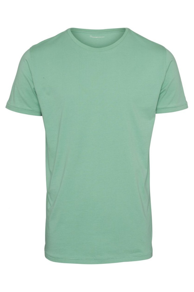 Basic Regular Fit O-Neck Tee - Dusty Jade Green