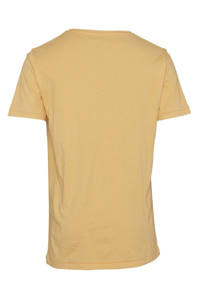 Basic Regular Fit O-Neck Tee - Banana Melange