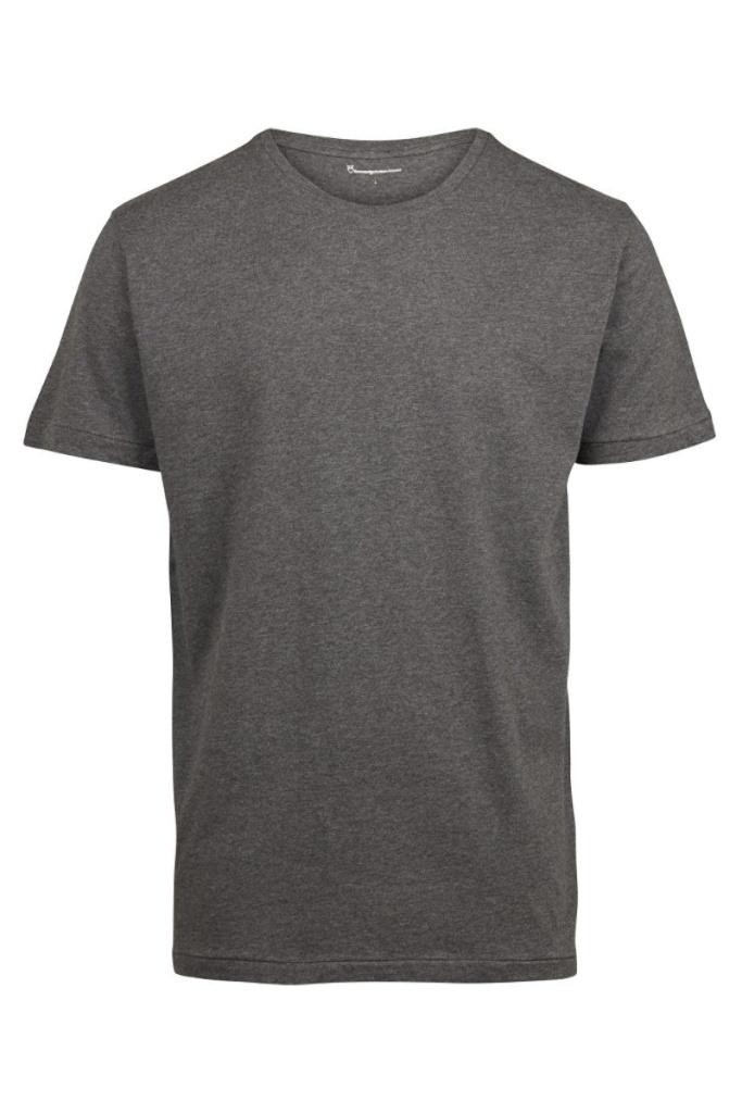 ALDER basic tee - Dark Grey Melange - XL