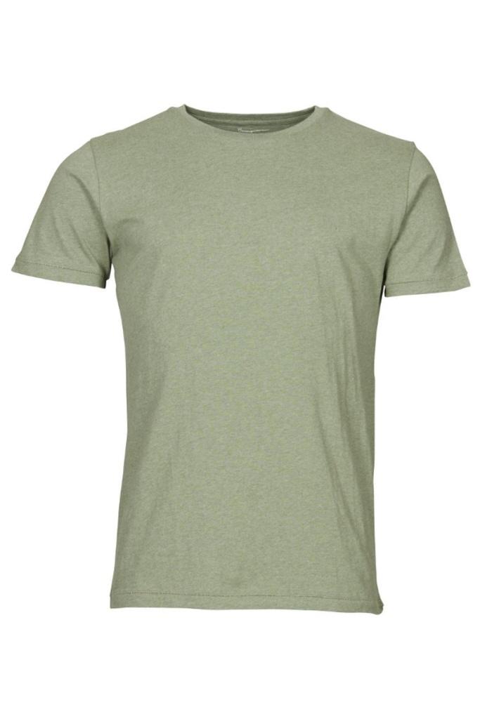 T-Shirt Regular Fit - Green Melange - L
