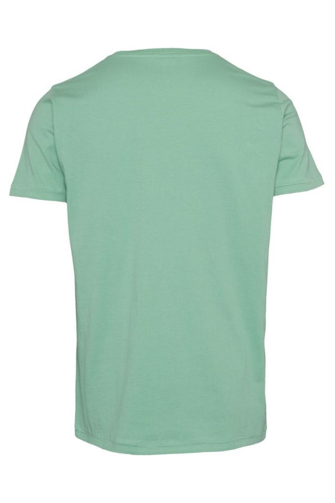 Basic Regular Fit O-Neck Tee - Dusty Jade Green