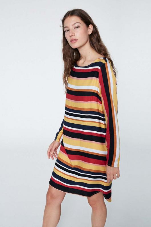 Zoe Multicolor Stripe - Black - L
