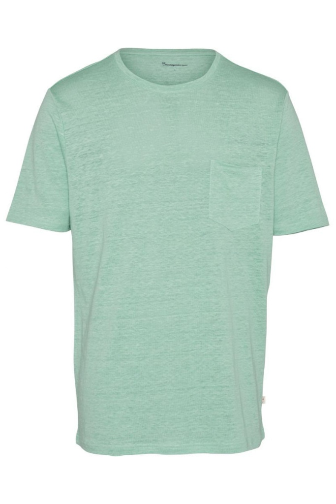 Single Jersey Linen T-Shirt - Dusty Jade Green