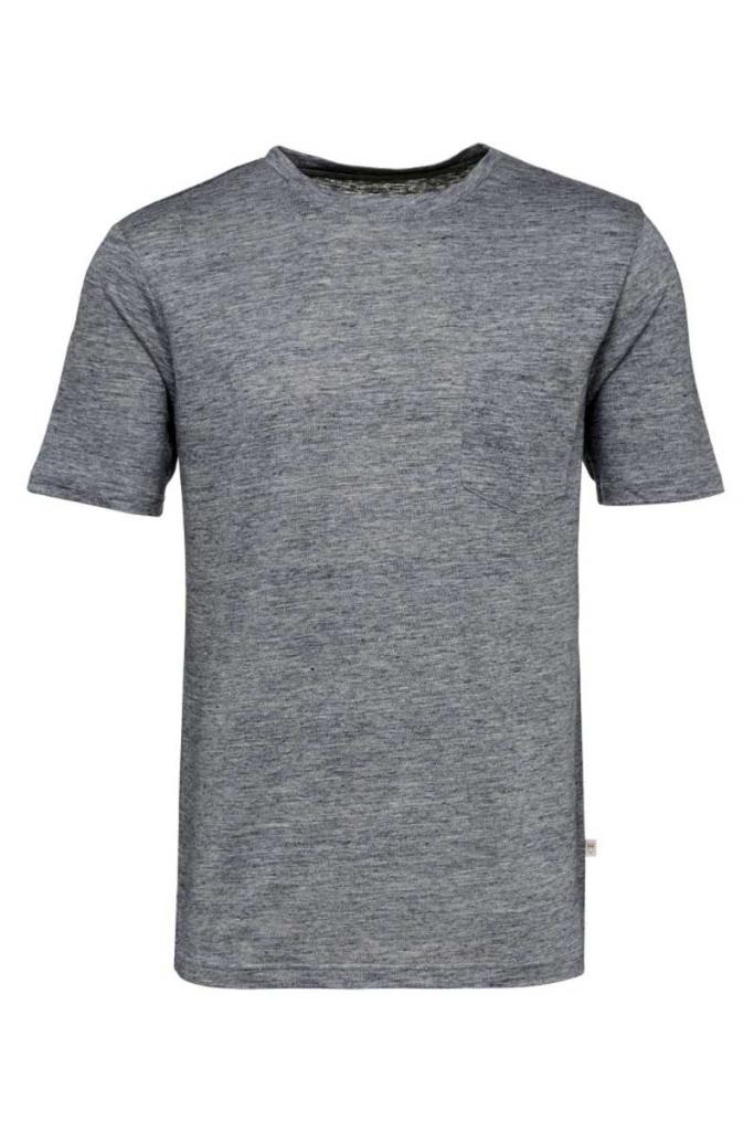 Single Jersey Linen - Insigna Blue - L