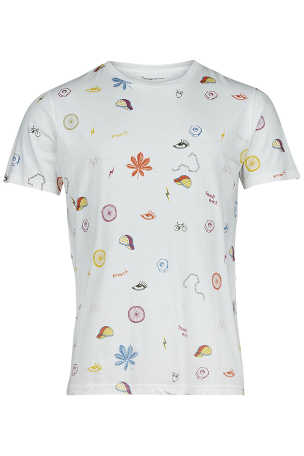 T-shirt with all over concept print