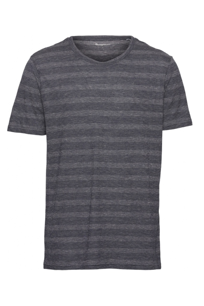 ALDER Striped Hemp Tee - L