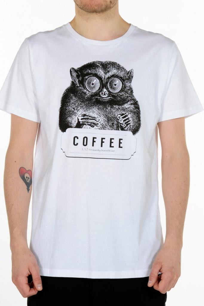 T-shirt Stockholm Caffeine Kick - White - S