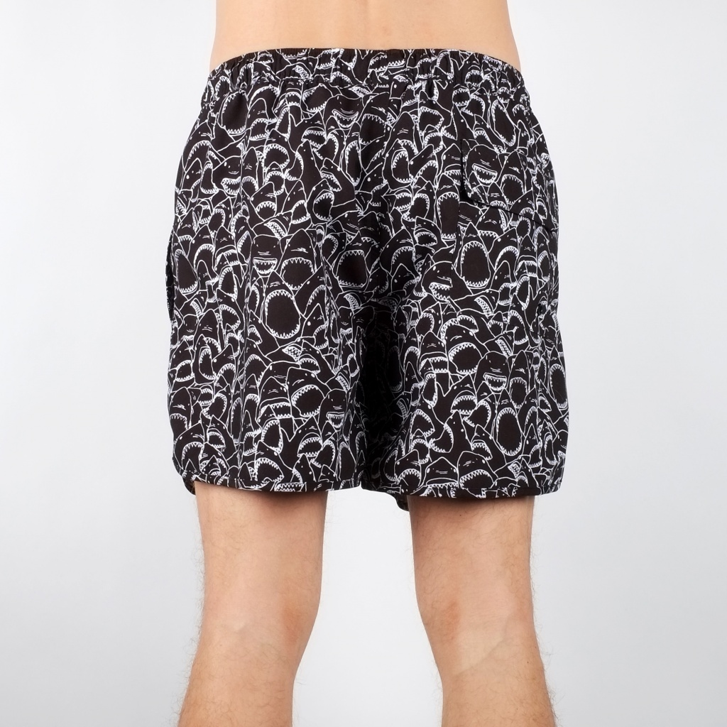 Swim Shorts Shark Bite - Black