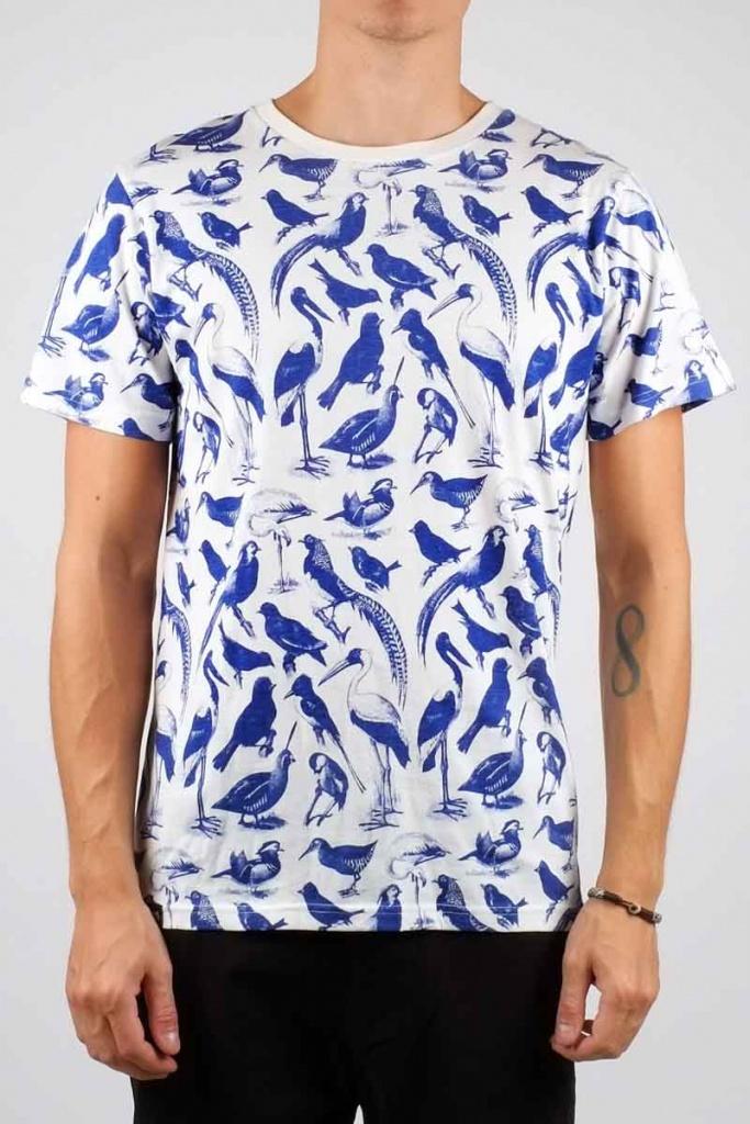 Blue Birds - Off White - L
