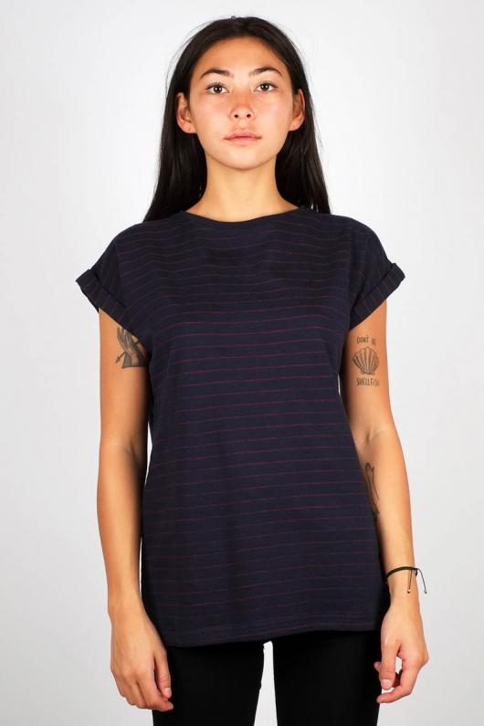 T-shirt Visby Jacquard Stripes - Navy - L