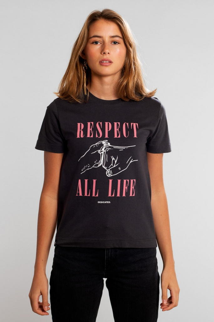 T-shirt Mysen Respect Life - Charcoal - S