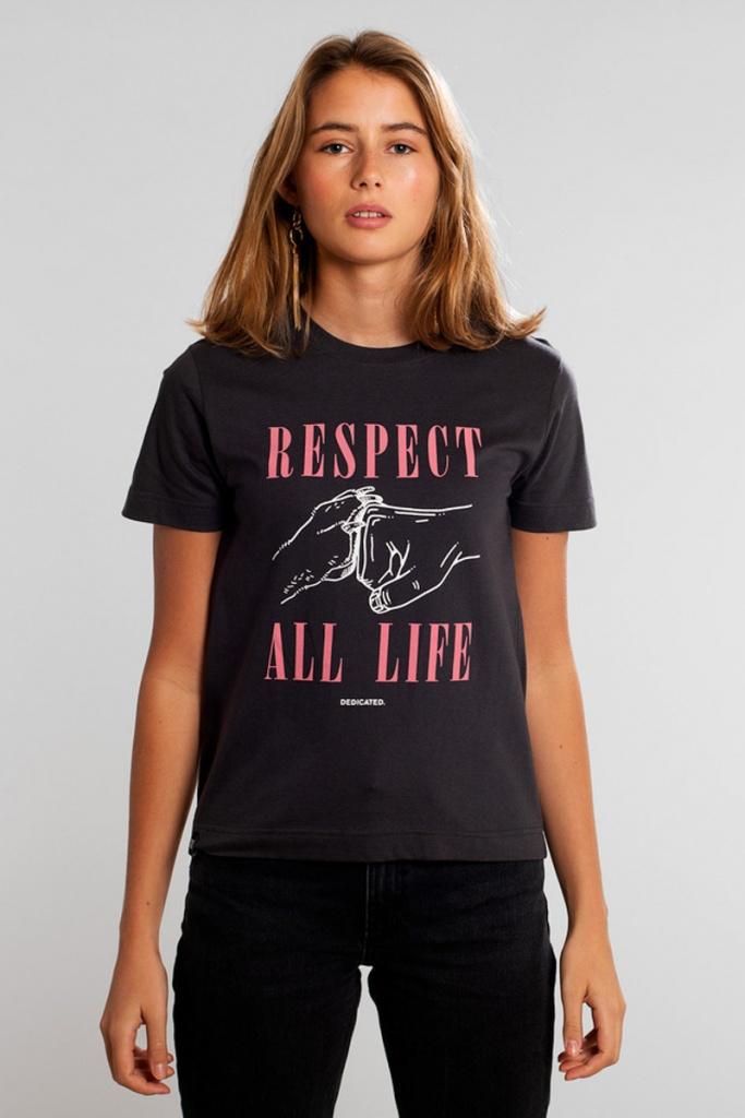T-shirt Mysen Respect Life - Charcoal - XL