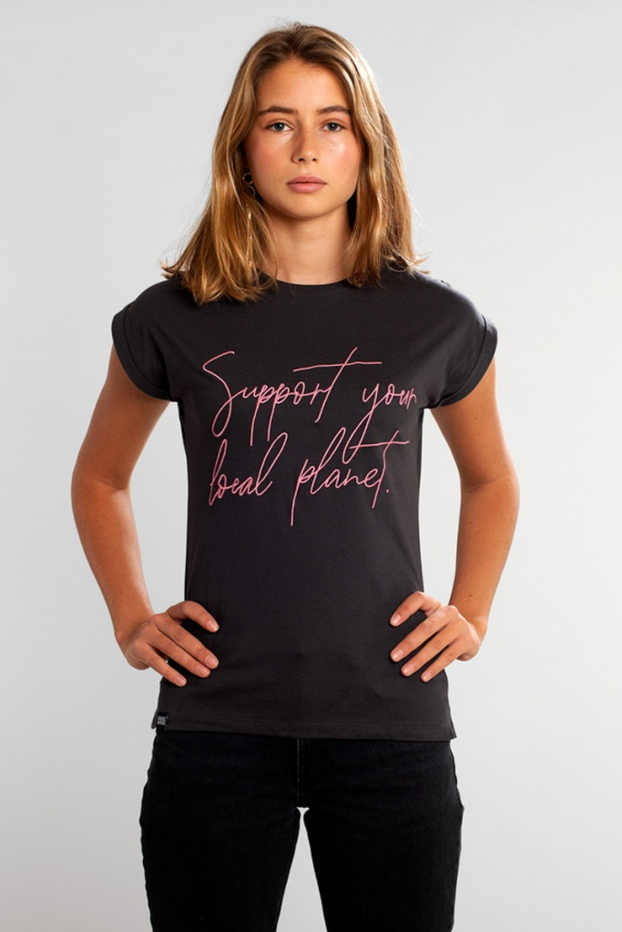 T-shirt Visby Support Script - Charcoal - XS