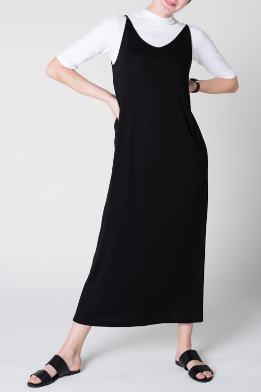 Dress Triangle Midi - Black - XS