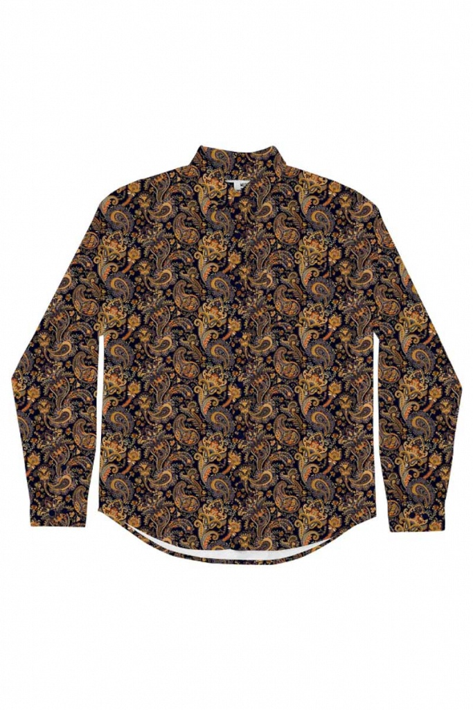 Shirt Varberg Bold Paisley - Navy