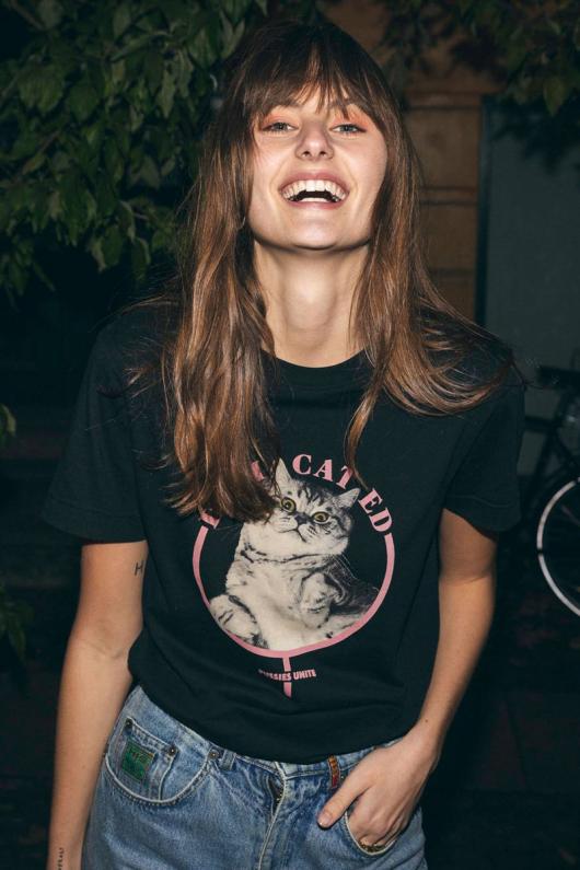 T-shirt Mysen Pussies Unite - Black - XS