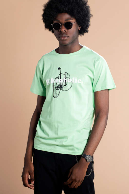 T-shirt Stockholm Bikeoholic - Mint - L