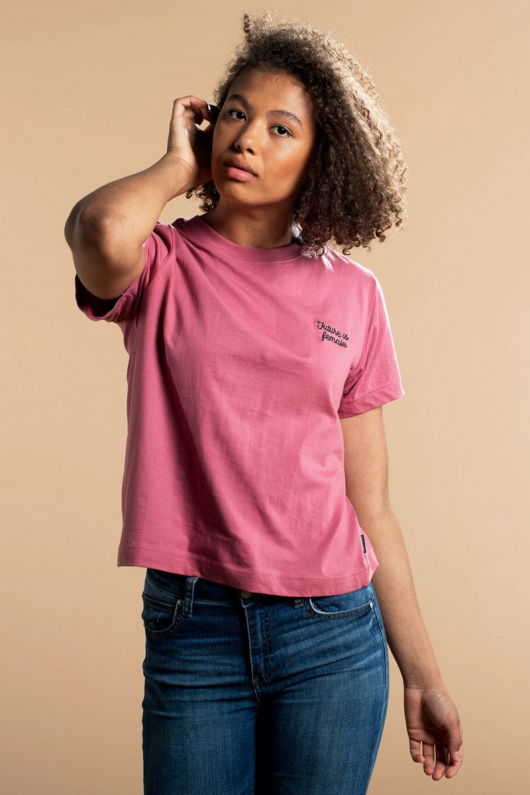 T-shirt Mysen Future Is Female - Rose - XS