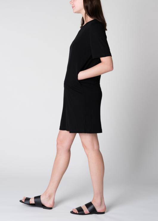 T-Shirt Dress Iris - Black - L