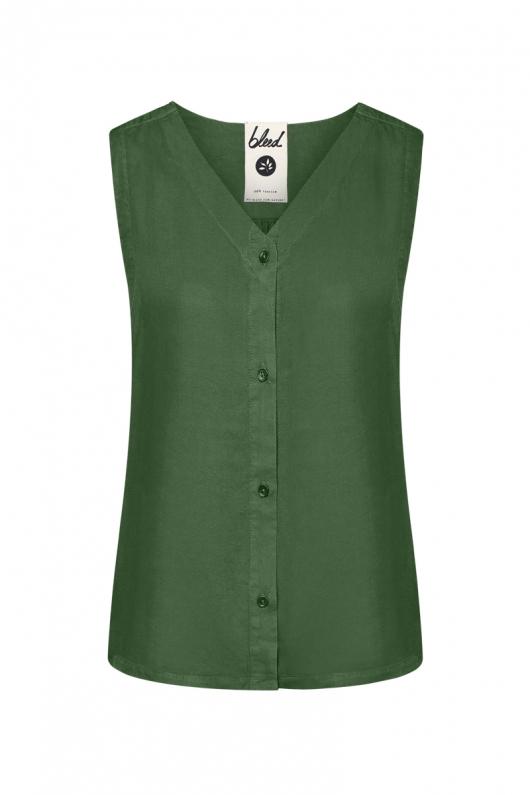 Light-Breeze TENCEL Blouse - Dark Green - XS