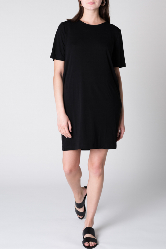 Iris T-shirt Dress - Black - XS