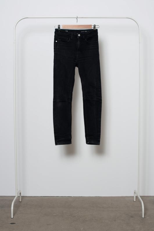 Reused Skinny Jeans - Svarta - 25