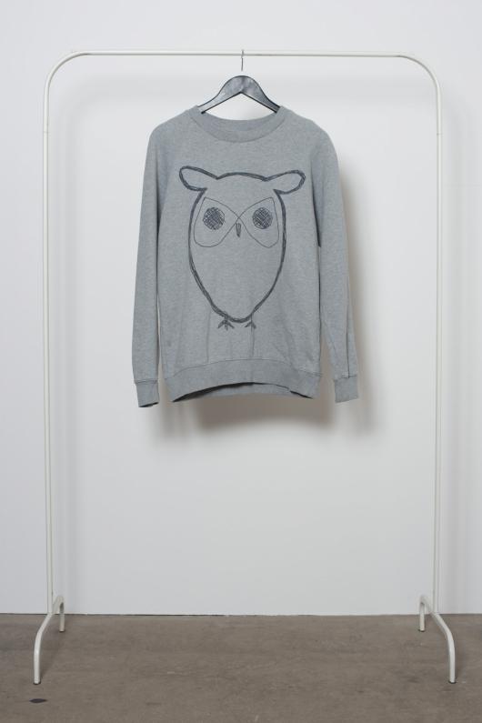 Reused Sweatshirt Uggla - Grå - M