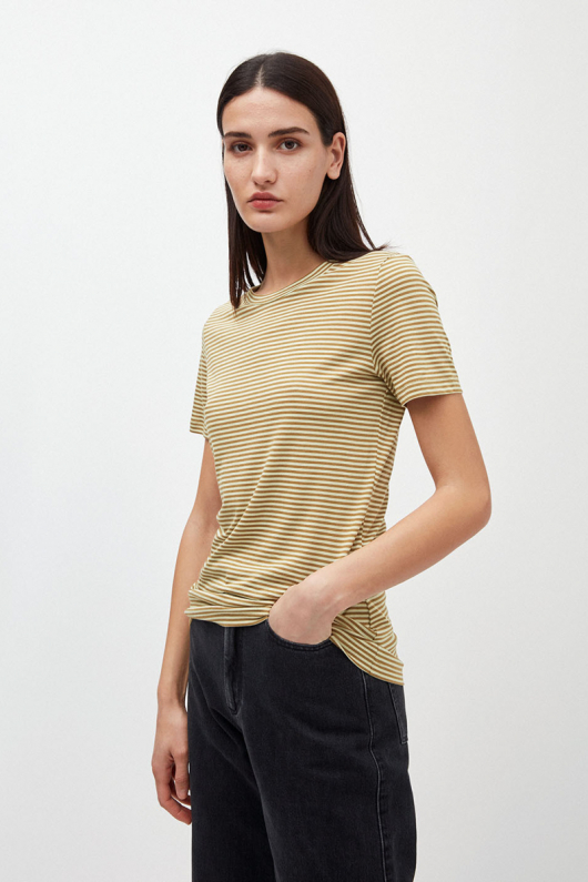 Lidaa Ring Stripes - Golden khaki/Pistachio - M