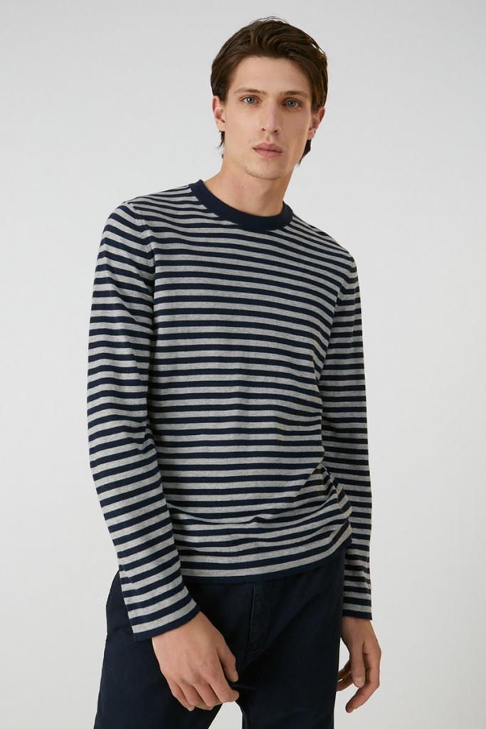 Laado Stripe - Navy/Grey Melange - XL